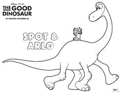Get pumped for #GoodDino with this prehistoric coloring sheet.  Meet Arlo & Spot in theatres this Thanksgiving in 3D! #GoodDino