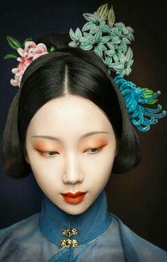 明代豎領衫 Ming dynasty Ladies Hanfu Fine Art Photography, Portrait Photography, Fashion Photography, Photo Portrait, Photo Art, Ancient Beauty, China Art, Oriental Fashion, Chinese Culture