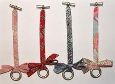 Bracelet Liberty id. Bracelet Liberty id… - Bijoux Trends Bracelets Liberty, Fabric Bracelets, Love Bracelets, Textile Jewelry, Fabric Jewelry, Beaded Jewelry, Handmade Jewelry, Jewellery, Fabric Crafts