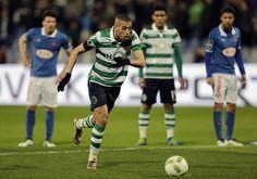 Os Belenenses 2 v Sporting CP 5 - Primeira Liga 04APR2016 Silmani marca de penalti
