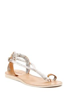 Elsie Genuine Snakeskin Sandal
