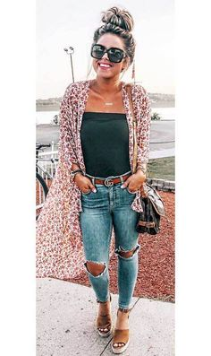 casual outfits for winter ; casual outfits for work ; casual outfits for women ; casual outfits for school ; Spring Outfit Women, Spring Summer Fashion, Casual Summer Outfits For Women, Cute Spring Outfits, Spring Fashion Outfits, Summer Fashion Modest, Casual Summer Outfits With Jeans, Early Spring Outfits, Ootd Spring