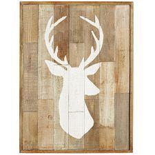 Wood Patchwork Deer Wall Decor