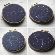 Love constellation embroidery
