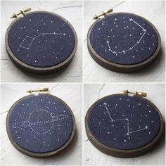Miniature Rhino constellation embroidery