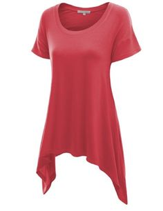 Doublju Srhot Sleeve Knit T-shirt with Ublalanced Hem PINK (US-L) Doublju http://smile.amazon.com/dp/B00CDC2RLS/ref=cm_sw_r_pi_dp_ukMnvb085FQK3