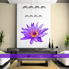 (3576f) Nálepka na stenu - Fialové lekno   ARTSABLONY.SK
