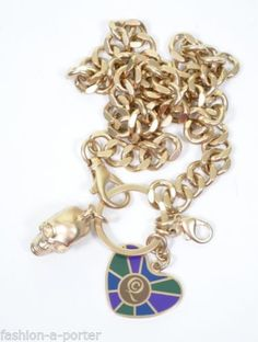 ALEXANDER-McQUEEN-SKULL-AND-HEART-KEY-CHAIN-KEYRING-KEYFOB-EXTREMELY-RARE-BN Key Fobs, Key Chain, Unique Fashion, Alexander Mcqueen, Skull, Store, Heart, Bracelets, Ebay