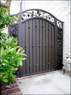 Modern aluminum fence louvred metal sliding driveway gate 13 on home visit our showroom and see the detail in our handcrafted wrought iron custom design railings fences gate and balconies with quality in mind workwithnaturefo