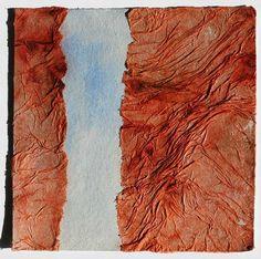 #V - Seconde peau- série 10x10 (Peinture),  10x10 cm par Stéphanie Muller