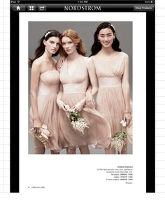 Nordstrom Bridal   Nordstrom Bridal collection simply beautiful!!!