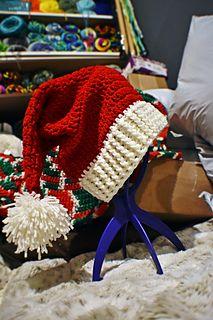 Super Long 5/' Red White Cozy Wrap Santa Hat Scarf Christmas Elf Mrs Claus Jingle