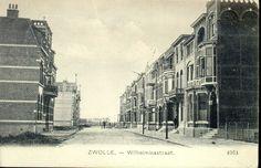 Wilhelminastraat ca. 1909 gezien vanuit de Veerallee naar het westen.