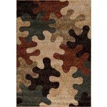 "Woven Area Rug - Aspen Collection Puzzle Pieces multi 7'10"" x 9'10"