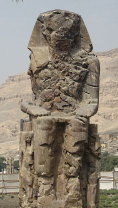 Colossi of Memnon in Luxor   See and read more at :  http://ogrote.hubpages.com/hub/travelling-the-mighty-nile