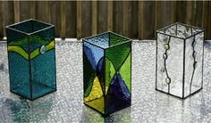 stained glass tealight holders