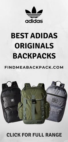 Are you after a new Adidas backpack? With a huge selection of the best Adidas backpacks, you'll be sure to find what you're looking for here! Adidas Originals, The Originals, Fashion Bags, Fashion Backpack, Backpack Essentials, Adidas Fashion, Cloth Bags, Backpacking, Bag Accessories