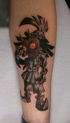 Majoras mask Skull kid done by Linn Theres, Memento tattoo Oslo
