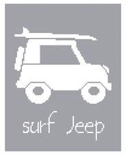 surf jeep cross stitch pattern