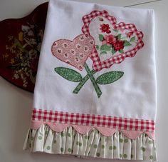 cute heart towel