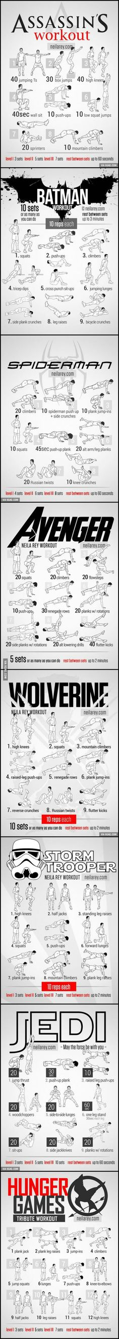 The superhero Workout!