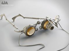 Steampunk Glasses by hronnos on deviantart. when goth goes brown