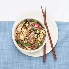 Grilled tofu is nowhere near as slimy as the chunks you find at the salad bar. Toss it with soba noodles, spinach and ponzu sauce. Click through for this and more quick and easy recipes for summer meals.