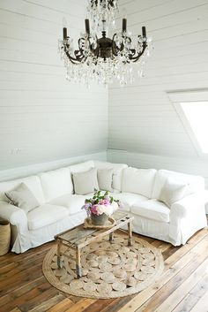 Dress Up Your Home With Shiplap and Chandeliers