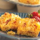 Savory Bacon Cheddar Corn Muffins Recipe - Allrecipes.com - Great idea for lunches at work or school.