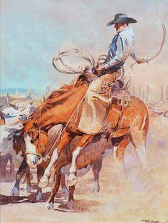 Teal Blake, The Outlaw, oil, 30 x 22.