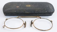 Chaps Original No1 Pince Nez Spectacles with Case by Yonks on Etsy, $56.00