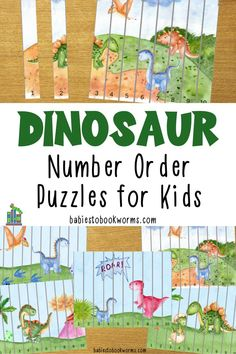 Encourage kids to problem solve with these printable dinosaur number order puzzles for kids! These printable math puzzles can be used over and over! Dinosaur Books For Kids, Dinosaur Activities, Activities For Kids, Maths Puzzles, Puzzles For Kids, Worksheets For Kids, Number Recognition Activities, Fun Learning, Learning Activities
