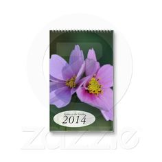 Cosmos in the Garden 2014 Floral Wall Calendar Design by Just For Mom