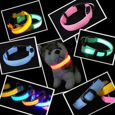 Collar de Perro de Nylon Para Mascotas LED Nocturna de Seguridad LED Parpadeante Resplandor LED Suministros para mascotas Productos para Perros Collar del Gato del Perro Pequeño Diseñador Collares