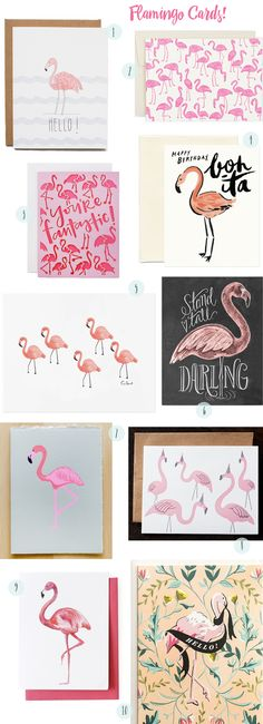 Flamingo Cards and Art Print Round Up / Oh So Beautiful Paper / featuring Rifle Paper Co, Hartland Brooklyn, Hello!Lucky, Idlewild Co, Thimblepress + more!