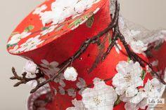 DETAIL- Dolce Mela Couture Mini Top Hat by Lallu Chic Couture Millinery Hania Bulczyńska- silk, vintage French veil, silk flowers, apple tree branch, Svarowski crystals #millinery #judithm #hats