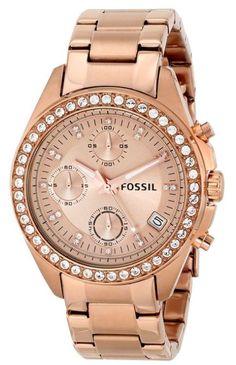 Fossil Damen-Armbanduhr Chronograph Quarz Edelstahl beschichtet ES3352  €110.10  #fossil #uhren