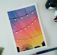 Watercolor Art Lessons, Watercolor Paintings For Beginners, Canvas Painting Tutorials, Simple Paintings For Beginners, Simple Canvas Paintings, Easy Canvas Art, Small Canvas Art, Oil Pastel Art, Oil Pastel Drawings Easy