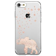 For Ultra Thin Transparent Case Back Cover Case Elephant Soft TPU for iPhone 7 Plus 7 6s Plus 6 Plus 6s 6 SE 5S 5 – GBP £ 3.35