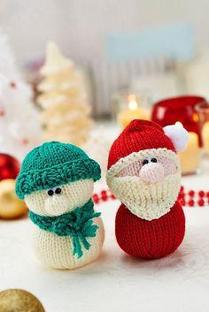 kerstman en sneeuwman