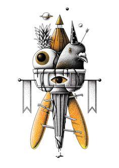 Surreales ilustraciones de Nicolas Barrome Forgues