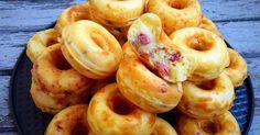 recette minis donuts salés avec appareil ou machine à donuts lardons fromage