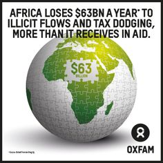 Africa loses $63bn a year to illicit flows and tax dodging, more than it receives in aid. If we're serious about tacking #inequality and #poverty in Africa, we need to tackle tax dodging.  www.oxfam.org