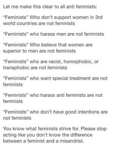 This is what white feminism looks like>>> hello? I'm white, the palest thing you'd ever set eyes on but I still believe in feminism, and not what they listed, don't generalise or stereotype