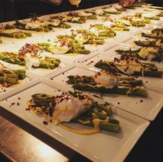 Deluxe Fine Food Package: Spears of warm asparagus, soft poached egg and Hollandaise sauce @GGWeddings
