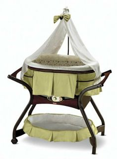Fisher-Price Zen Collection Gliding Bassinet.  I would love to have this for our room