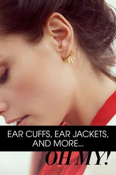 Try our favorite new trend - the ear jacket. A simple stud with wraparound detail is the perfect way to add some interest to daywear or a delicate edge to nighttime attire.