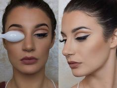 Viral Spoon-Cut Crease Creates Perfect Eye Makeup in Seconds - Us Weekly Cut Crease Eyeshadow, Cut Crease Makeup, Pigment Eyeshadow, Cream Eyeshadow, Eyeshadow Palette, Makeup Tricks, Eye Makeup Tips, Beauty Makeup, Makeup Products