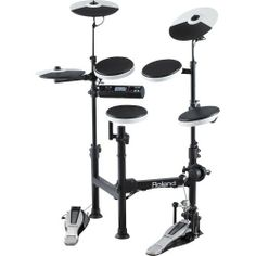 Roland TD-4KP Portable Electronic Drum Set by Roland. $799.00. The Roland TD-4-KP-S portable electronic drum set makes it easier than ever take your electronic kit out on a gig. The cage was specially designed to be collapsible and portable, making it easy to set up and breakdown on the go. Dont let the stripped down appearance of this kit fool you it still has all of the same features youve have come to love about the TD-4, such as an unrivaled sound and feel.This kit features a...