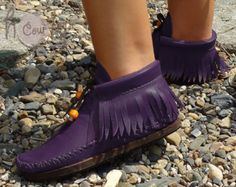 Moccasins Brown Moccasin Boots Womens Moccasins by HolyCowproducts